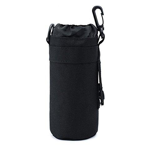 TEGOOL Water Bottle Sleeve Bag Bottle Holder Tactical Water Bottle Pouch (Black)