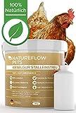 Natureflow Kieselgur im 4kg Eimer für Hühnerställe – 100% Rein, Natürliche Diatomeenerde - Einfache Anwendung, Inkl. Stäubeflasche – Hochwertiges Kieselgur Pulver