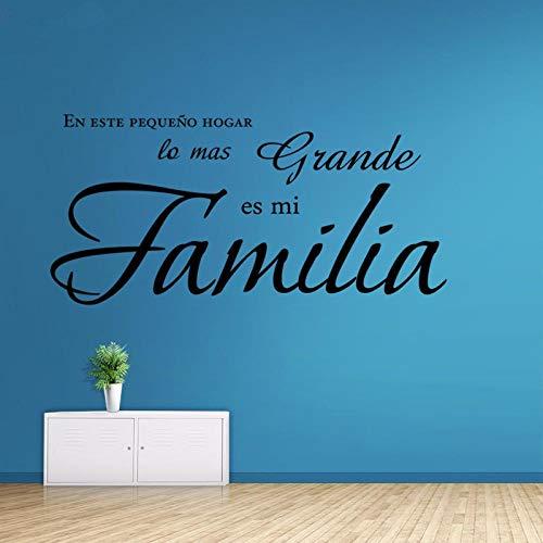 Fagreters en esta pequeña casa, la cosa más grande es mi familia calcomanías de vinilo de vinilo español calcomanías decoración del hogar arte de la pared mural 43X89Cm