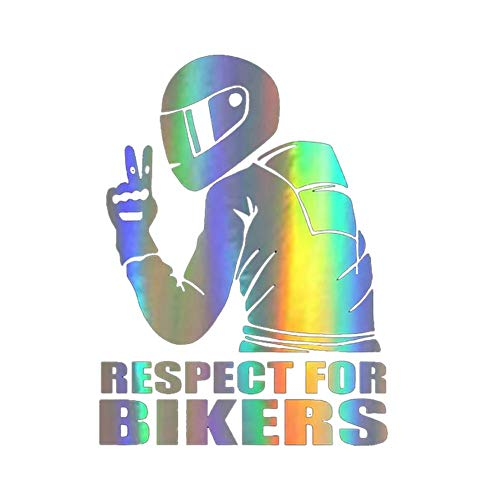 Createjia Auto Aufkleber Respekt für Biker Aufkleber Autostil Dekoration auf Auto Vinyl lustige 3D Aufkleber und Abziehbilder 15x11CM