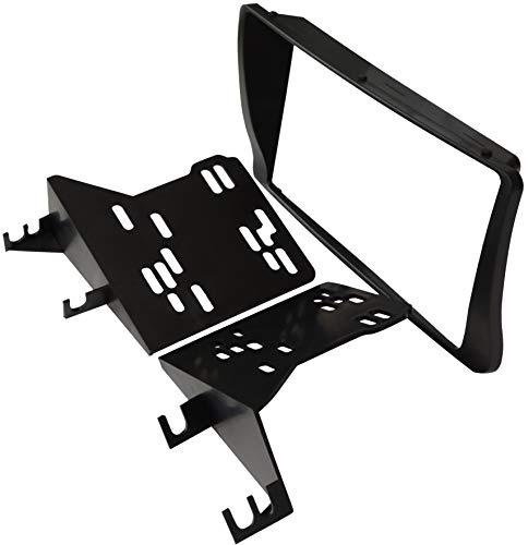 AERZETIX: Mascherina telaio adattatore 2DIN copertura in plastica stampata per il cambio sostituzione dell'autoradio originale con un radio standard per veicoli automobile