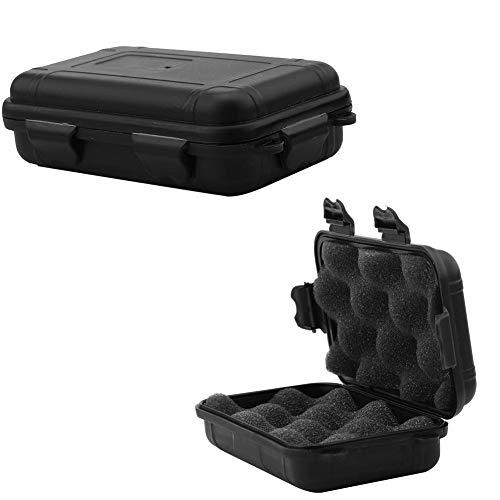 VIFER förvaringsbox utomhus överlevnad stötsäker vattentät förvaringsbox förseglad behållare fodral 2 färger 2 storlekar, 1 st (L-svart)