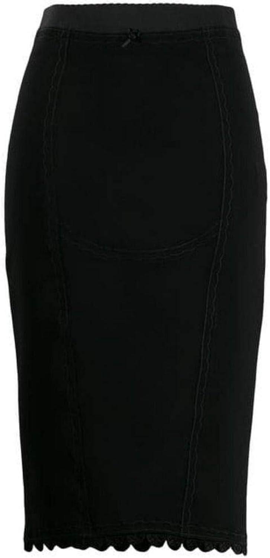 MARCO DE VINCENZO Women's MQ5243A7JMBLACK Black Synthetic Fibers Skirt