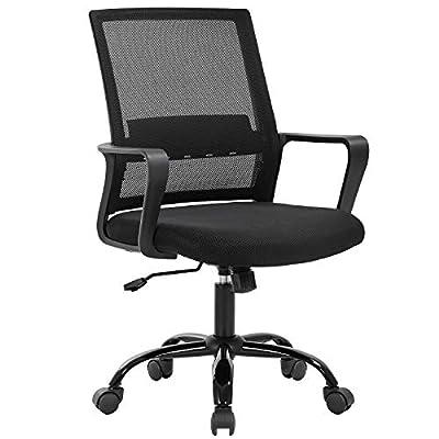 Home Office Chair Ergonomic Desk Chair Swivel Rolling Computer Chair Executive Lumbar Support Task Mesh Chair Adjustable Stool for Women Men