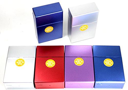 kogu Set mit 6 Pop Up Zigarettenboxen, Zigaretten, metallic ohne Steg, 20er Box, 85mm