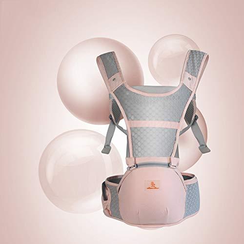 TINERS Portabebés multifunción con Asiento ergonómico Mochila ergonómica para bebés 0-36 Meses Four Seasons Holding Baby Artifact,Lightpink