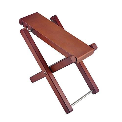 NUZAMAS Reposapiés ajustable de madera maciza para guitarra, plegable, altura y ángulo ajustable, resistente, taburete de música, 27 cm x 13 cm