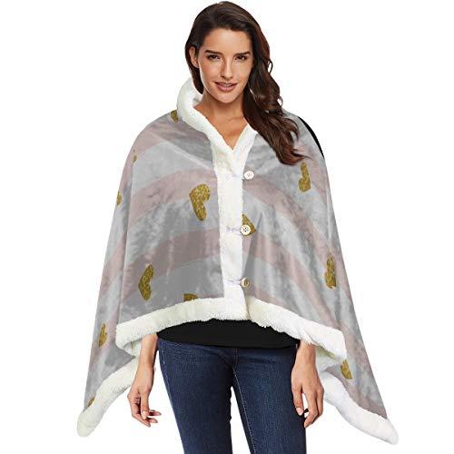 Glitter Konfetti mit Streifen Damen Schals und Wraps tragbare Decke Männer 53 x 30 Zoll mit 3 Tasten für Sofa im Freien warme Schals und Wraps Wrap Schal für Frauen
