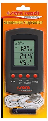 Sera 32032Reptil Termómetro/higrómetro un Dispositivo Combinado Sobre la duración de medición de Temperatura y de Humedad en Terrario con Sensor Remoto.