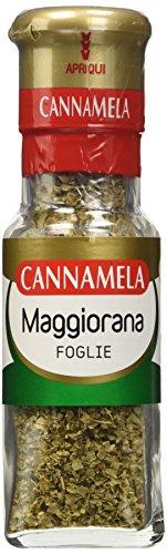 Cannamela, Linea Maxi Oro, Maggiorana in Foglie, Insaporitore per Ragù, Brasati, Polpette, Ideale per Torte Salate, Pesti e Pizza, Confezione da 6 x 10 g