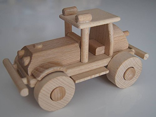 Superbe Buggie à 4 roues tout terrain en bois - jouet bois magnifique - Artisanat Véritable