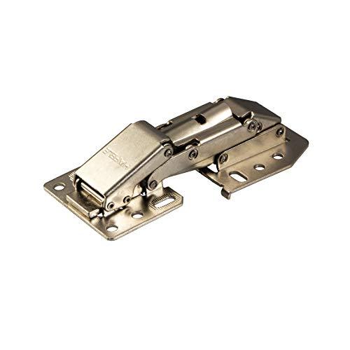 Gedotec Caravanscharnier Hochklappscharnier CH 300 Klappen-Scharnier mit SOFT-CLOSE Dämpfung | Möbelscharnier für aufliegenden Anschlag | Stahl vernickelt | 1 Stück - Schrank-Scharnier verstellbar