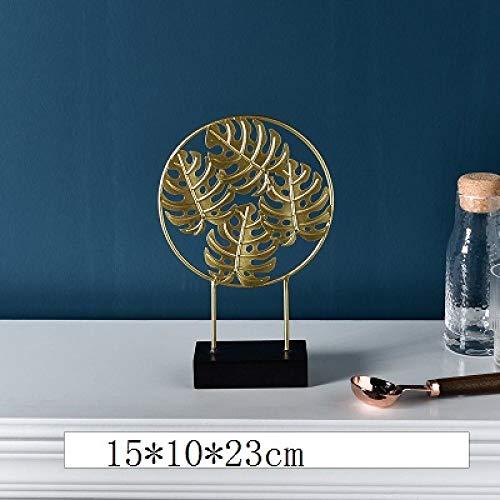 DIAOSUJIA in Noordse stijl gouden leaf figuur creatieve ijzeren plant ornamenten strijkijzer handwerk woonkamer decoratie voor thuis