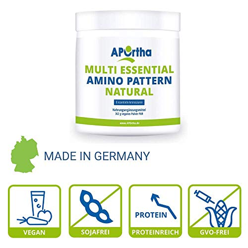 Multi essential Amino Pattern – 8 essentielle Aminosäuren – 500 g veganes Pulver - 3