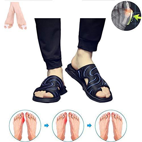 SANJIBAO Pantofole Sandali da Uomo Punta Rivestita Materiale Stoffa Suola in Gomma per Comfort Sportivo Flat Antiscivolo, Anti-Cracking