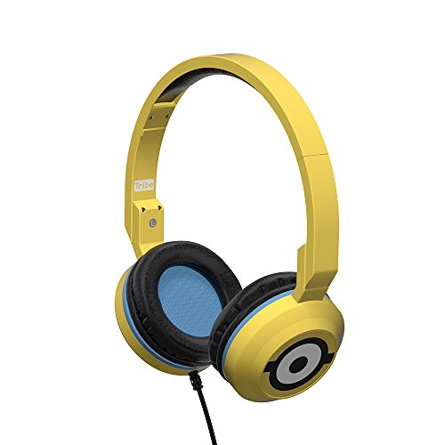 Tribe Minions - Auriculares on-ear con micrófono I Auriculares Cascos para Iphone, Android, Movil, PS4, XBOX, PC, Computador - diseño Carl