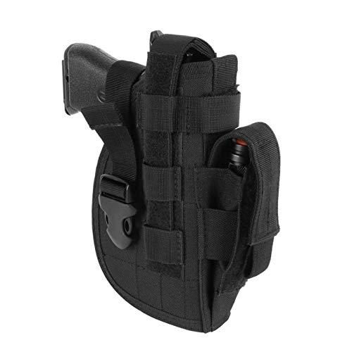XFC-Fundas Táctica Universal avanzado Pistolera Mano Derecha Molle Modular la Pistola del Combate de Airsoft de cinturón Funda de Nylon (Color : Black Color)