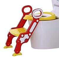 Altezza Regolabile: poiché la toilette è troppo alta, non è conveniente per i bambini, dobbiamo preparare le scale per la toilette. Questo sedile del water ha una scala a doppio strato e il primo gradino ha due regolazioni in altezza per adattarsi al...