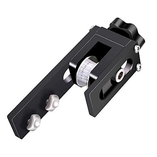 UniTak3D Migliorata 2020 Cintura Sincrona Tenditore per l'asse X,Tenditore Cinghia in Alluminio,Compatibile con le Stampanti 3d Ender 3, Ender 3 Pro, Ender 5 etc(Nero)