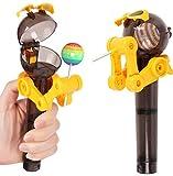 UgyDuky 2 Pack Cute Design Eat Lollipop Robot Lollipops Holder Lollipop Case Lollipops Stand Tool Dustproof Candy Holder Gifts for Children Kids(Random Color)