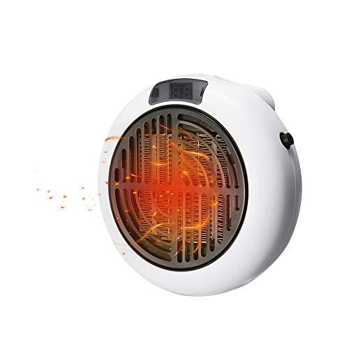 Portátil Calefactor Eléctrico, Domybest Mini Calentador eléctrico portátil de 900w Ventilador Calefactor Eléctrico Cerámica Oscilación Automática Calefactor Aire Caliente para Hogar Oficina (White)
