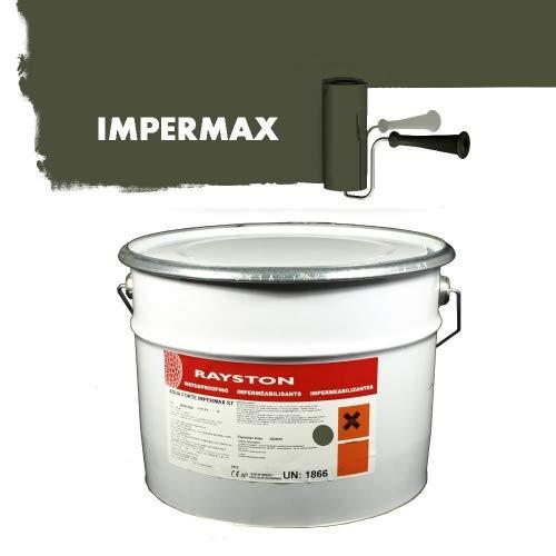Impermax hochwertige flüssige Teichfolie - Olivgrün RAL 6003-30 kg (3x10kg)