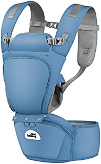Wellwerks Baby Carrier with Hip Seat, Removable 6-in-1 Multifunctional Adjustable Baby Carriers, 360 Ergonomic Baby Carriers Backpack- Adapt to Newborn, Infant & Toddler, All Season Baby Sling