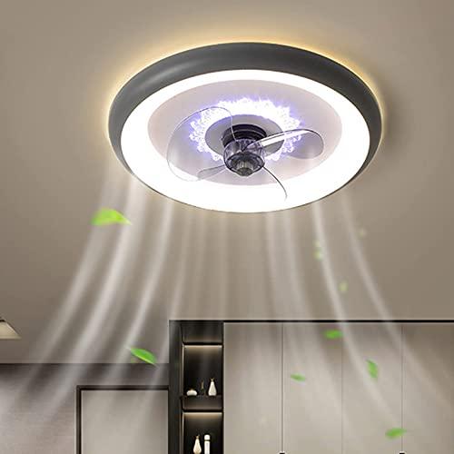 FCWMD Ventilador de Techo LED Ultrafino con Luces y Control Remoto silencioso, Ventilador de iluminación de Techo Regulable y Ajuste de Velocidad de 3 velocidades, lámpara de Ventilador de acrílic