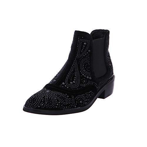 Alma en Pena Damen Stiefeletten Stiefelette 318-BLACK schwarz 550279