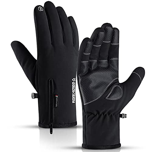 WIBIMEN -30℉ Ski Snowboard Waterproof Gloves with Touchcreen for Skiing Snowbarding, Windproof Anti-Slip Cold Weather Gloves for Men & Women(Medium Size)
