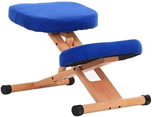 Ergonomische Knieschmerzen Rückenlehne Haltungskorrektur Kniehöhe verstellbar Hocker,Blue