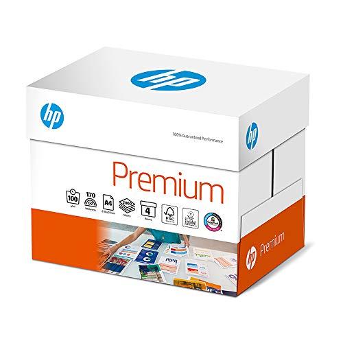 HP Druckerpapier Premium CHP 854: 100g, A4, 2.000 Blatt (4x500), Extraglatt, Weiß - Intensive Farben, Scharfes Schriftbild, CHP 854