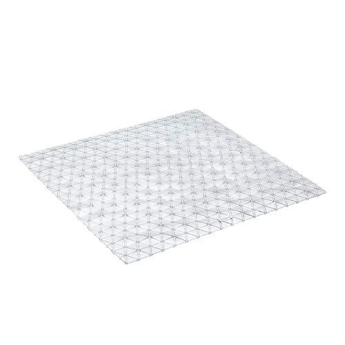 TATAY Diamond - Alfombra antideslizante para ducha o bañera, 54 x 54, translúcida