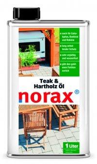 norax Teak- & Hartholz Öl 1l - Pflegt und schützt langanhaltend geölte und naturbelassene Hartholzoberflächen