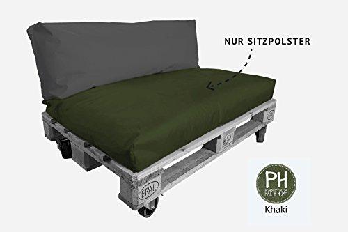 Coussin pour palette Patchhome - Assise pour l'intérieur et l'extérieur - Dimensions : 120 x 80 x 10 cm - 25 couleurs disponibles et 7 tailles disponibles