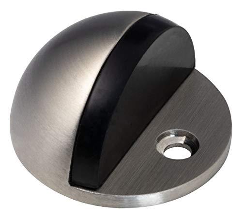 Diseño suelo de tope para puerta acero inoxidable mate Tope para puerta con piñas–Modelo h8039  goma búfer 5mm, profundidad: 44,5mm   Altura: 25,5mm   Diseño herrajes de Juva®