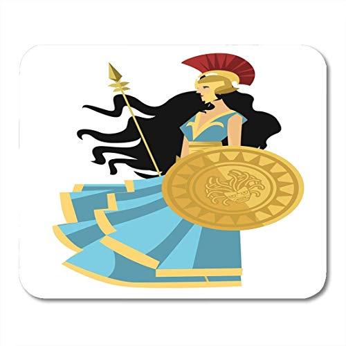 Preisvergleich Produktbild Mauspads Alte weiße Zeichnung Palas Athena Minerva Griechische Mythologie Göttin Mauspad für Notebooks,  Desktop-Computer Matten Büromaterial