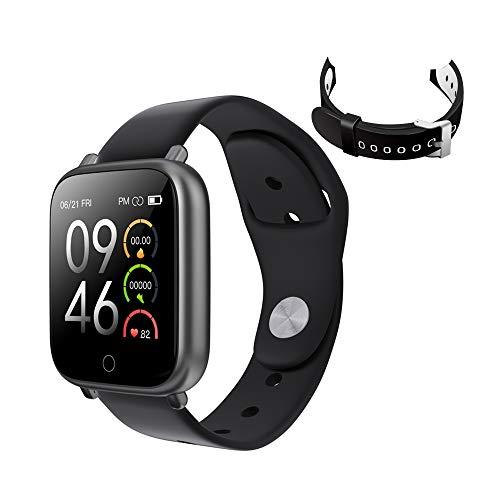 Tarnel Fitness Rastreador Smartwatch Pantalla Táctil para Mujeres Hombres Niños Impermeable Monitor de Frecuencia Cardíaca Podómetro Contador de Pasos Monitor de Sueño Cronómetro para iOS Android