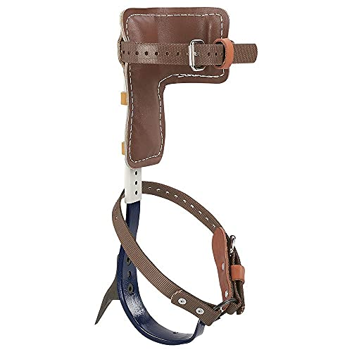 Klein Tools CN1907AR Leather Tree Climber Set 2-3/4-Inch Gaffs, 15 to 19-Inch