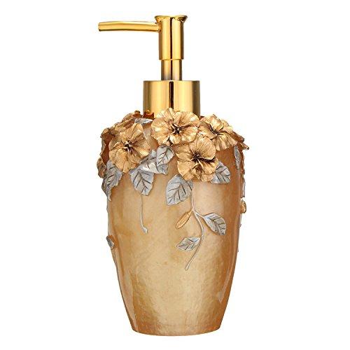 350ml capacidad dispensador de jabón Jabón Dosificador baño accesorios Resina, acrílico, dorado