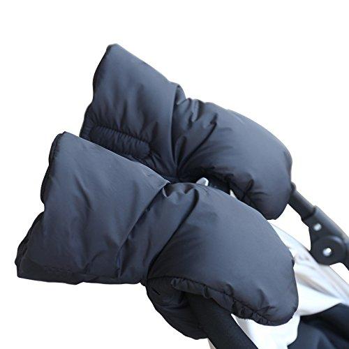 domybest One Paar Kids Baby Kinderwagen Buggy Zubehör Hand Muff Wärmer Nachahmung Fleece Handschuhe