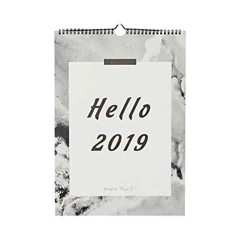 2019 DIY Plan Familiar Simple Mesa montada en la Pared Calendario Plancha de Pared de Doble Rollo Plan multifunción Plan de la Oficina Calendario