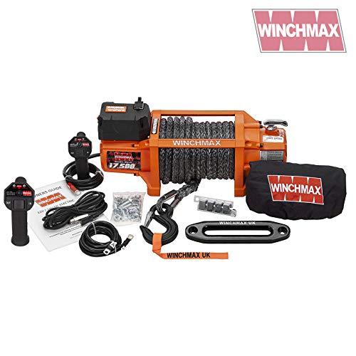 Winchmax Elektrische Seilwinde, Dyneema-Seil, 7,938 kg, Orange