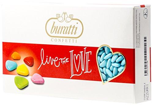 Buratti Confetti al Cioccolato, Coriandoli Azzurri - 1000 g