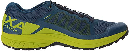 Salomon Men's XA Elevate Trail Running Shoes, Poseidon/Lime Green/Black, 10