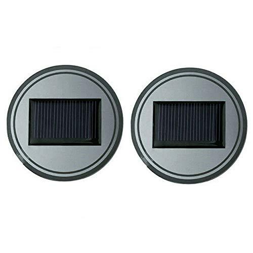 Fesjoy Posavasos LED para Coche, Coche LED Posavasos Portavasos Estera Sensor de luz Sensor de vibración IP67 Impermeable Coche LED Posavasos Luminoso