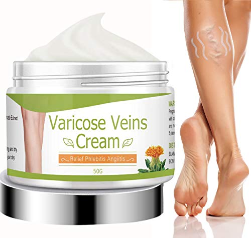 Varicose Veins Cream, Natural Varicose and Spider Veins Treatment, Varicose Cream to Remove Spider Veins for Legs, Inprove Blood Circulaton, Tired and Heavy Legs Fast Relief