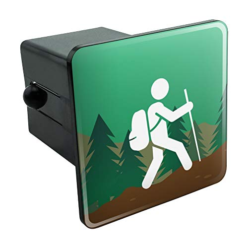 Graphics and More Hiker Hiking Symbol Mountain Nature Tow Trailer Hitch Cover Plug Insert 2