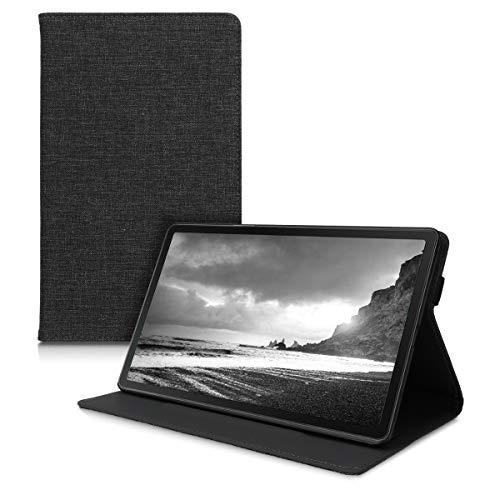 kwmobile Hülle kompatibel mit Samsung Galaxy Tab A 10.1 (2019) - Slim Tablet Cover Hülle Schutzhülle mit Ständer Dunkelgrau