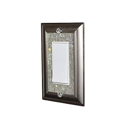 XiaoDong1 Classy Bling Rhinestone Wall Plate Cover (Color : Single Rocker)